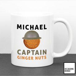 Captain Ginger Nuts Personalised Mug