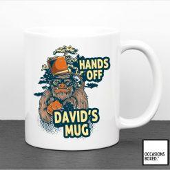 Personalised Gorilla Hands Off My Mug