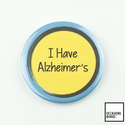 I Have Alzheimer's Pin Badge