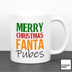Merry Christmas Fanta Pubes Gift Mug For Gingers