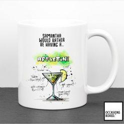 Personalised Appletini Cocktail Mug