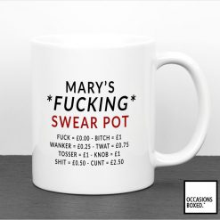 Personalised Fucking Swear Pot Adult Gift Mug