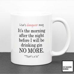Personalised Hang Over Mug