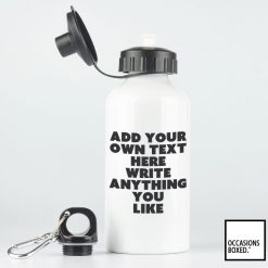 Personalised Metal Bottle Own Text