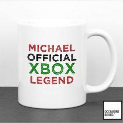 Personalised Official Xbox Legend Gamer Mug