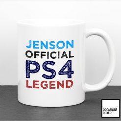 Personalised PS4 Legend Gamer Gift Mug