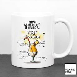 Personalised Pina Colada Cocktail Mug
