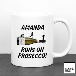 Personalised Runs On Proscecco Gift Mug