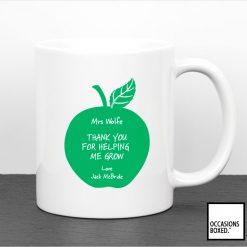 Teachers Gift Mug Thank You For Helping Me Grow