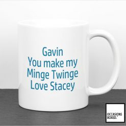 Personalised You Make My Minge Twinge Adult Gift Mug