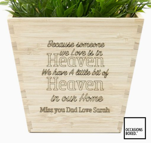Because Someone We Love In In Heaven Flower Pot