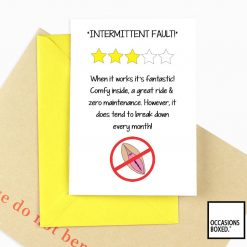 Intermittent fault Funny Adult Quote Card