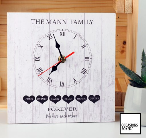 Forever We Love Each Other Family Gift Clock