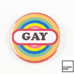 Gay Rainbow Pin Badge