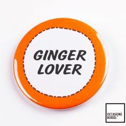 Ginger Lover Pin Badge