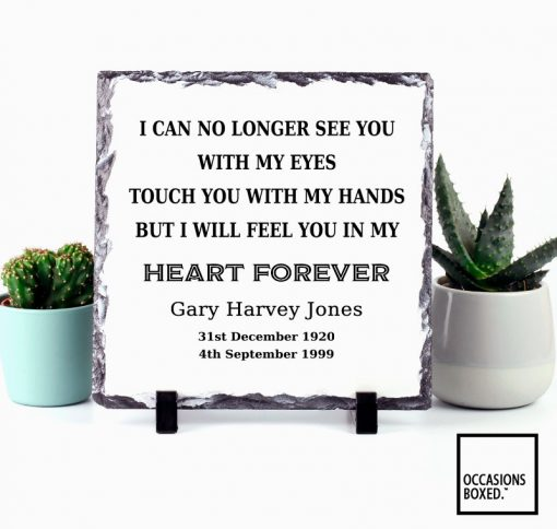 I Can No Longer See You With My Eyes Graveside Memorial Slate