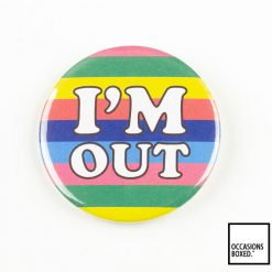 I'm Out Gay Pride Pin Badge
