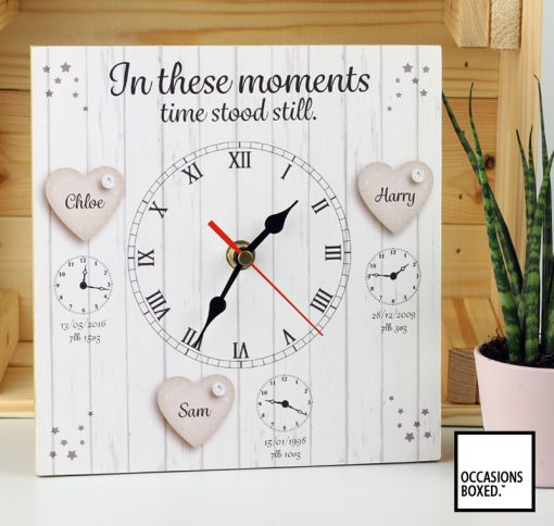 In These Moments Time Stood Still Family Clock For 3 Children