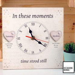 In These Moments Vintage Paper Style Family Gift Clock