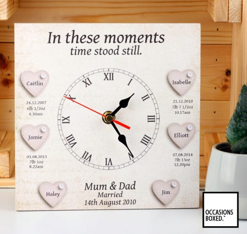In These Moments 4 Children And Wedding Gift Clock
