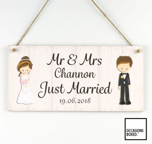 Just Married Personalised Wedding Sign