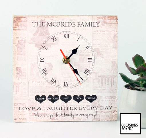 Love And Laughter Every Day We Are The Perfect Family In Every Way Clock