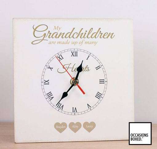 Grandchildren Are Made Up Of Many Hearts Clock