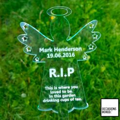 Personalised Angel Grave Marker Ornament