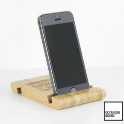 personalised Bamboo Phone Or Tablet Stand