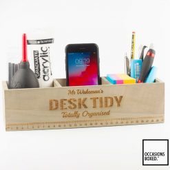 Personalised Desk Tidy Box