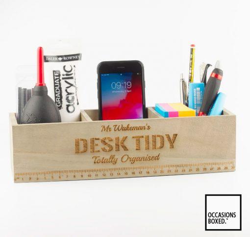 Personalised Desk Tidy Box