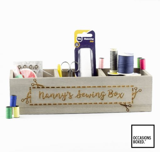 Personalised Sewing Box Desk Tidy