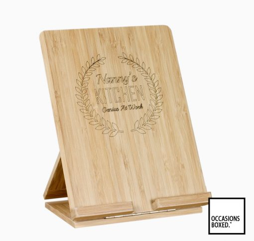 Bamboo Tablet Stand With Custom Text