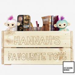 Personalised Wooden Crate Toy Box