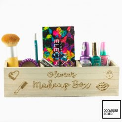 Personalised Wooden Makeup Gift Box