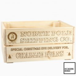 North Pole Christmas Eve Special Delivery Wooden crate