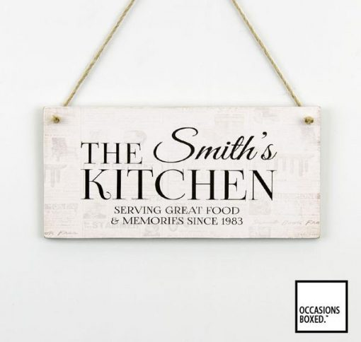 Serving Great Food And Memories Since Family Hanging Sign