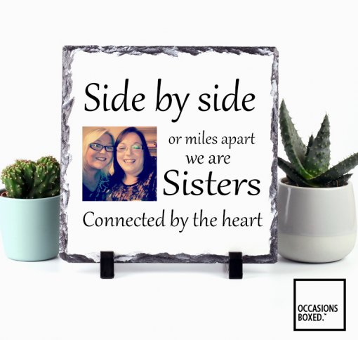 Side By Side Or Miles Apart Photo Slate For Sisters