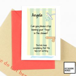 Stop Leaving Your Dildo In The Shower Adult Greeting Card