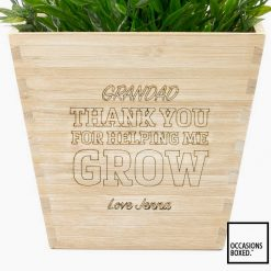 Thank You For Helping Me Grow Flower Pot