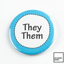 They Them Pin Badge