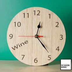 Wine O'Clock Kitchen Clock
