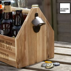 Wooden Beer Drinks Holder Personalized