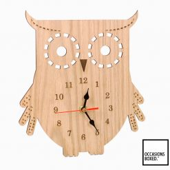 Wooden Owl Kitchen Clock