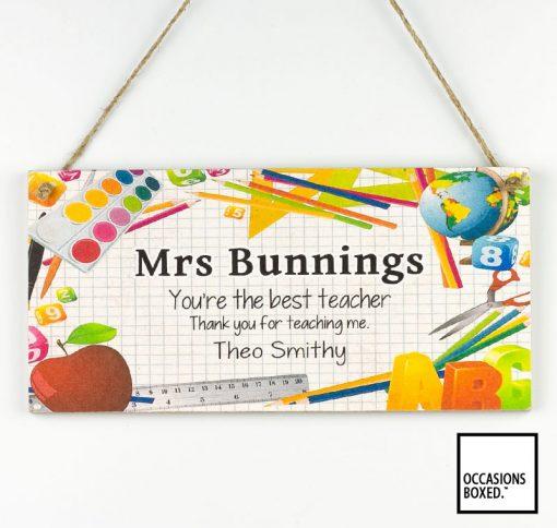 You're The Best Teacher Thanks For Teaching Me Teacher Gift