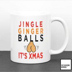 Jingle Ginger Balls It's Xmas Mug