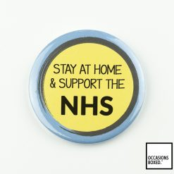 Stay At Home & Support The NHS Covid-19 Badge