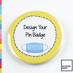 Face Mask Custom Pin Badge
