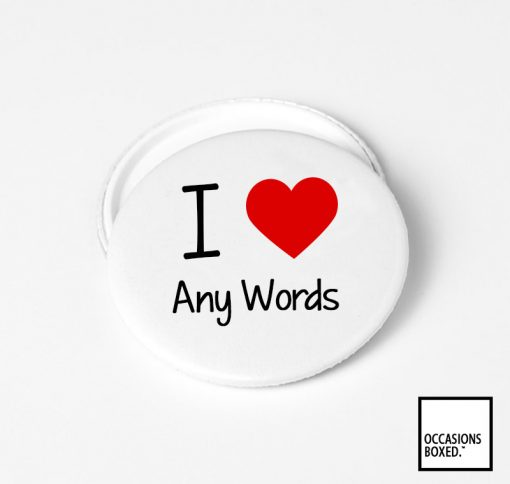 I Love Custom Pin Badge
