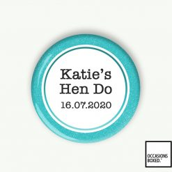 Hen Do Pin Badge Personalised With Name